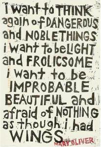 be frolicsome, improbable and afraid of nothing
